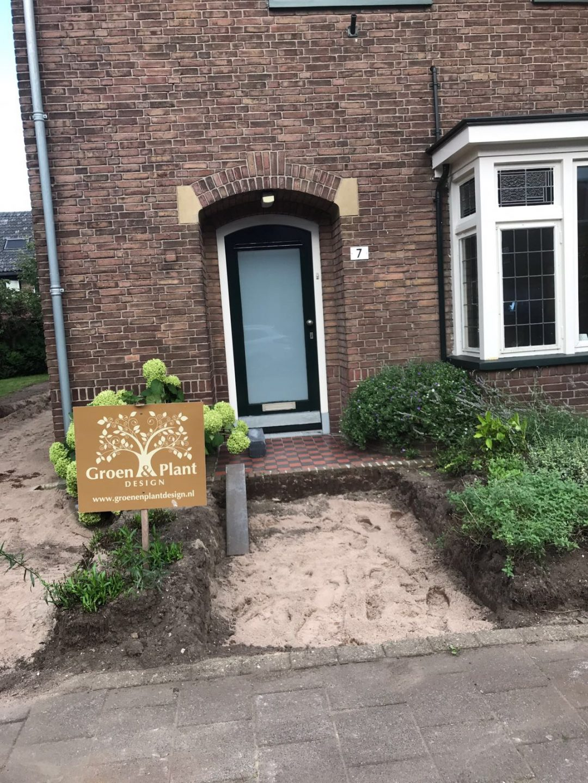 Voor- en achtertuin oude situatie Moriaanstraat Apeldoorn